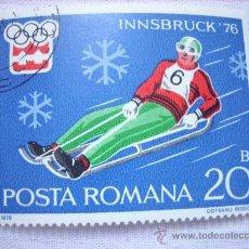 Sellos: SELLO RUMANIA POSTA ROMANA 20 BANI INSBRUCK 1976 OLIMPIADAS. Lote 37059793