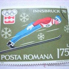 Sellos: SELLO RUMANIA POSTA ROMANA 1,75 L INSBRUCK 1976 OLIMPIADAS. Lote 37059803
