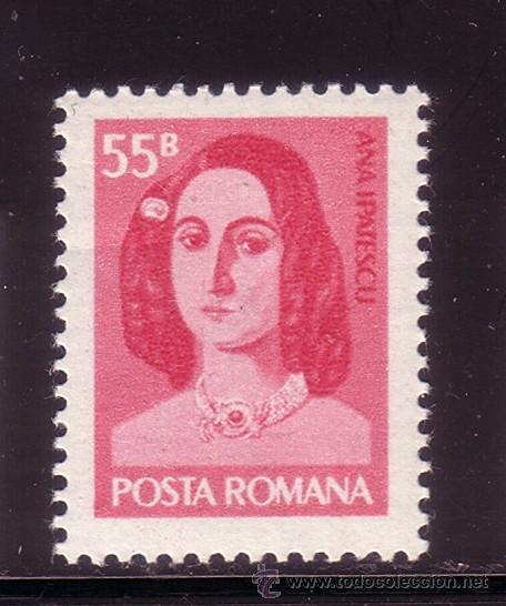 RUMANIA 2908*** - AÑO 1975 - CENTENARIO DE LA MUERTE DE ANNA IPATESCU (Sellos - Extranjero - Europa - Rumanía)