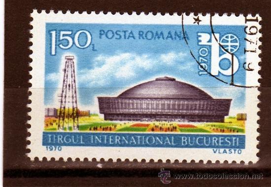 ++ RUMANIA / ROMANIA / ROUMANIE AÑO 1970 YVERT NR. 2551 USADA FERIA INTERNACIONAL DE BUCAREST (Sellos - Extranjero - Europa - Rumanía)