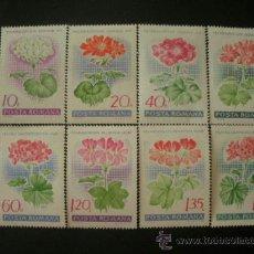 Sellos: RUMANIA 1968 IVERT 2389/96 *** FLORA - FLORES - GERANIOS. Lote 37805755