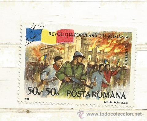 RUMANÍA 1990. PRIMER ANIVERSARIO DE LA REVOLUCIÓN. BUCARES (Sellos - Extranjero - Europa - Rumanía)