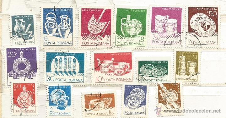RUMANÍA 1982. ARTESANÍA (Sellos - Extranjero - Europa - Rumanía)