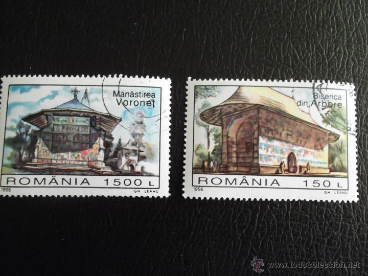 RUMANÍA. 4311/12 EDIFICIOS RELIGIOSOS: IGLESIA DE ARBORE Y MONASTERIO DE VORONET. ANIVERSARIO UNESCO (Sellos - Extranjero - Europa - Rumanía)