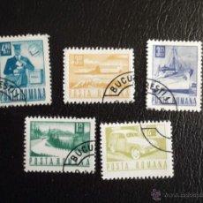 Sellos: RUMANÍA. SERIE BÁSICA CORREOS Y TRANSPORTES (5). 1967/68. SELLOS USADOS DE FAVOR Y NUMERACIÓN YVERT.. Lote 43696223