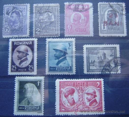 RUMANIA - LOTE. 9 SELLOS USADOS (Sellos - Extranjero - Europa - Rumanía)