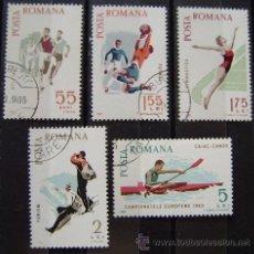 Sellos: RUMANIA - IVERT, 2170/74 USADOS - ( DEPORTES ). Lote 43923172
