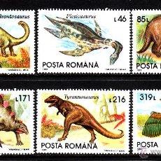 Sellos: RUMANIA 4082/87** - AÑO 1993 - FAUNA - ANIMALES PREHISTORICOS. Lote 44065031