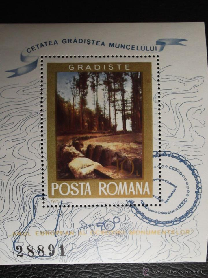 RUMANÍA. HB 119 AÑO EUROPEO DE LA PROTECCIÓN DE LOS MONUMENTOS: RUÍNAS ROMANAS DE GRADISTE**. 1975. (Sellos - Extranjero - Europa - Rumanía)
