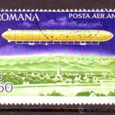 Francobolli: RUMANIA.ROMANIA.AÑO 1978.AVIACION.DIRIGIBLES.SELLO USADO CON GOMA.. Lote 45051299