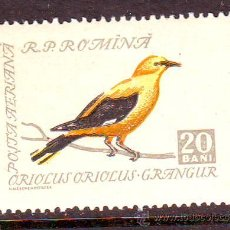 Sellos: RUMANIA.ROMANIA.AÑO 1959.YVERT NR. 92.CORREO AEREO.FAUNA.AVES.VALOR NUEVO SIN FIJASELLOS.. Lote 278938268