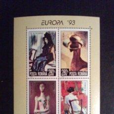 Sellos: RUMANIA HB 1993 NUEVA SC EUROPA 93 ARTE PINTURA MNH *** SC. Lote 42802362