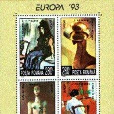 Sellos: RUMANIA HB-1 1993 EUROPA MUJER EN LA PINTURA NUEVO MNH *** SC. Lote 71517303