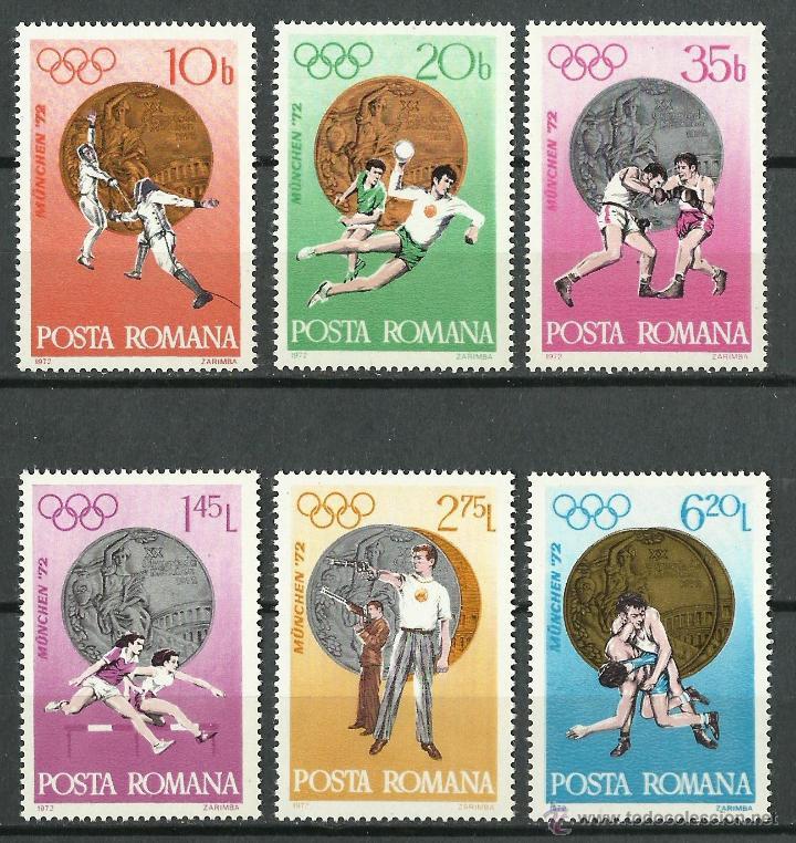 RUMANIA - 1972 - SCOTT 2381/2386** MNH (Sellos - Extranjero - Europa - Rumanía)