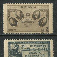 Timbres: RUMANIA - 1945 - SCOTT 596/597** MNH. Lote 49339150