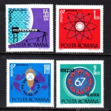 Sellos: RUMANÍA 2341/44** - AÑO 1967 - EXPO 67 EXPOSICIÓN UNIVERSAL DE MONTREAL. Lote 49406546