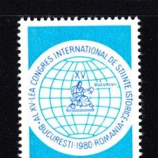 Sellos: RUMANÍA 3295** - AÑO 1980 - CONGRESO INTERNACIONAL DE CIENCIAS HISTORICAS. Lote 49406631