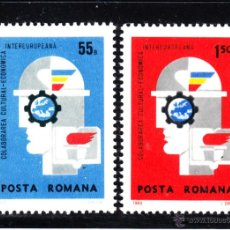 Sellos: RUMANIA 2461/62** - AÑO 1969 - COLABORACION INTEREUROPEA. Lote 49455835