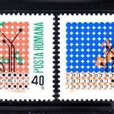 Sellos: RUMANÍA 2533/34** - AÑO 1970 - COLABORACIÓN CULTURAL Y ECONÓMICA EUROPEA. Lote 49455848