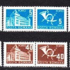 Sellos: RUMANÍA TASA 127A/32A** - AÑO 1967 - EDIFICIO DE CORREOS Y CUERNO POSTAL. Lote 49663949