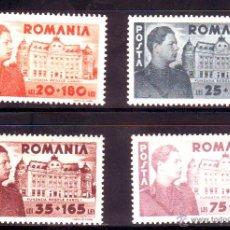 Sellos: RUMANIA.AÑO 1945.BIBLIOTECA NACIONAL.YVERT NR.17-20.SERIE NUEVA SIN FIJASELLOS.. Lote 178875125