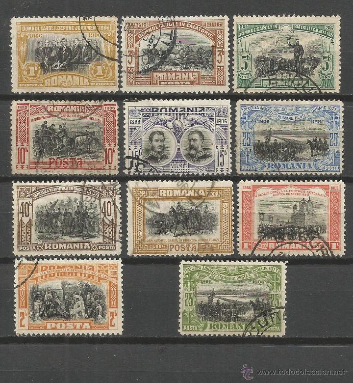 RUMANIA YVERT NUM. 172/81 SERIE COMPLETA USADA INCLUYE EL 177A ERROR DE COLOR (Sellos - Extranjero - Europa - Rumanía)