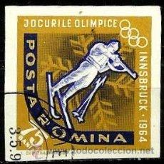 Sellos: RUMANIA 1963- YV 1989 (SIN DENTAR). Lote 52769882