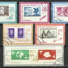 Stamps - Rumania - 1963 - Scott C146/C150 // Michel 2189/2194 - Usado - 53456172