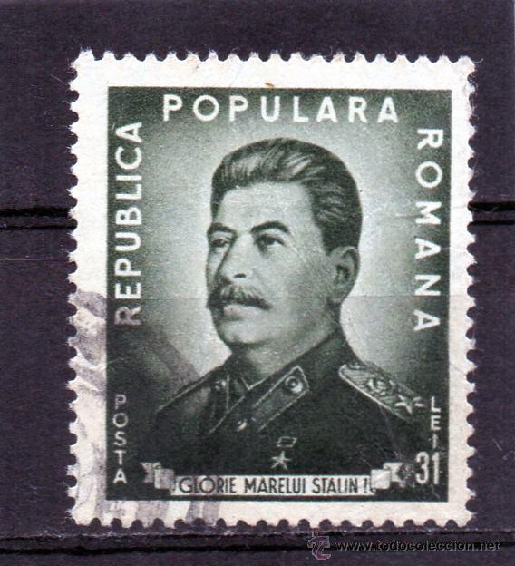 ++ RUMANIA / ROMANIA / ROUMANIE AÑO 1949 YVERT NR.1087 USADO STALIN (Sellos - Extranjero - Europa - Rumanía)