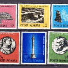 Sellos: RUMANIA 2901/06** - AÑO 1975 - ARQUEOLOGIA - AÑO EUROPEO DE PROTECCION DE MONUMENTOS. Lote 54111357