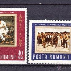 Sellos: RUMANIA 2302/03** - AÑO 1967 - 60º ANIVERSARIO DE LA INSURRECCION CAMPESINA DE 1907. Lote 157130106