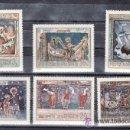 Sellos: RUMANIA 1969 IVERT 2497/502 *** FRESCOS DE MONASTERIOS RUMANOS - PINTURA. Lote 54361850