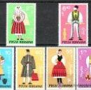 Sellos: RUMANIA 1973 IVERT 2745/50 *** TRAJES TIPICOS REGIONALES. Lote 54395115