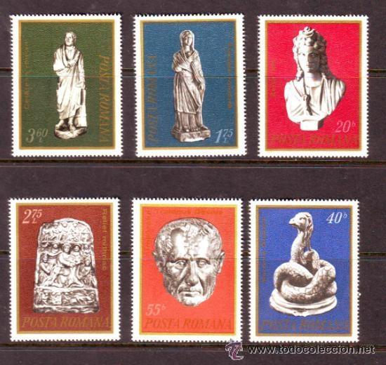 RUMANIA 1974 IVERT 2869/74 *** ARQUEOLOGÍA (Sellos - Extranjero - Europa - Rumanía)