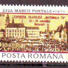 Sellos: RUMANIA 1974 IVERT 2879 *** EXPOSICIÓN FILATÉLICA - DIA DEL SELLO SOBRECARGADO. Lote 54407807