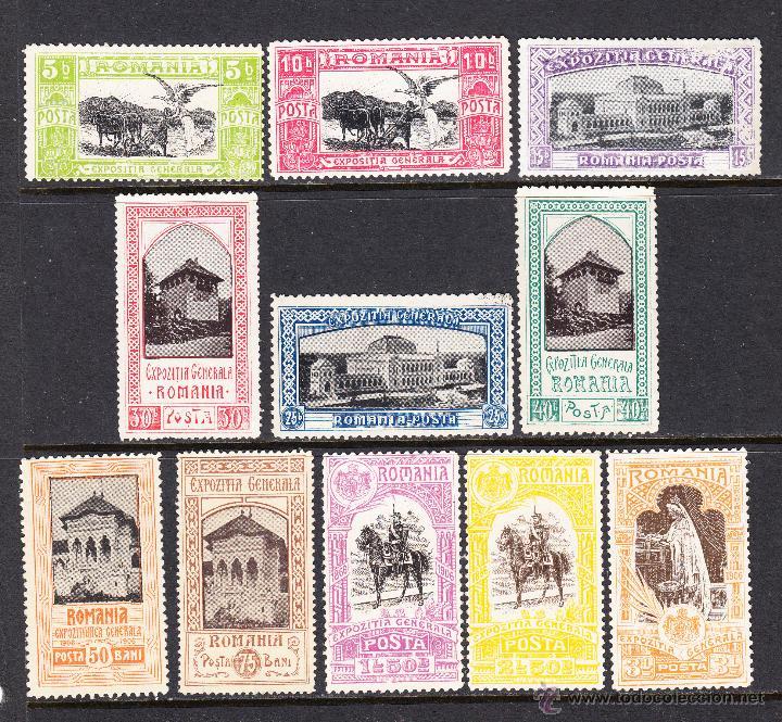 RUMANÍA 192/202** - AÑO 1906 - EXPOSICIÓN DE BUCAREST (Sellos - Extranjero - Europa - Rumanía)