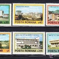 Sellos: RUMANIA 1979 IVERT 3175/80 *** ARQUITECTURA CONTEMPORANEA RUMANA, . Lote 54532270