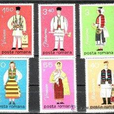 Sellos: RUMANIA 1979 IVERT 3197/202 *** TRAJES TIPICOS NACIONALES. Lote 54532466