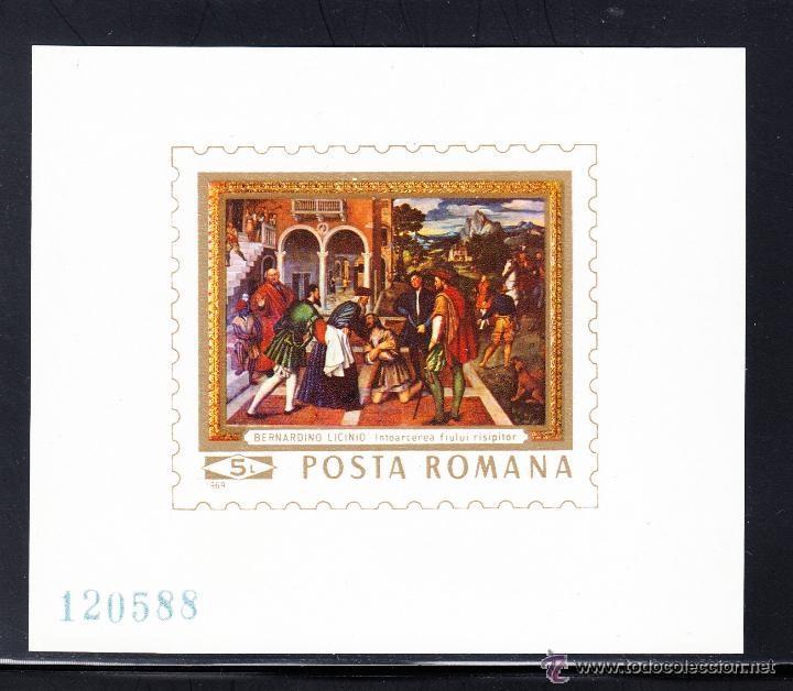 RUMANIA 1969 HB IVERT 75 *** CUADRO DE BERNARDINO DE LICINIO - PINTURA (Sellos - Extranjero - Europa - Rumanía)
