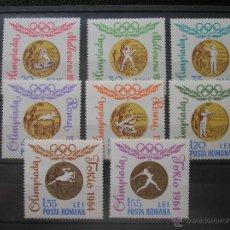 Sellos: RUMANIA 1964 IVERT 2068/75 *** MEDALLAS DE ORO OLIMPICAS RUMANAS - DEPORTES. Lote 54544791