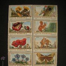 Sellos: RUMANIA 1983 IVERT 3465/74 *** FAUNA Y FLORA EUROPEA. Lote 55031504
