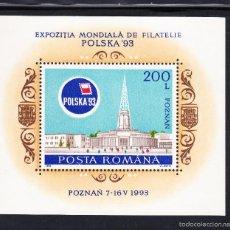 Sellos: RUMANIA HB 227** - AÑO 1993 - EXPOSICION FILATELICA INTERNACIONAL POLSKA 93. Lote 55238280
