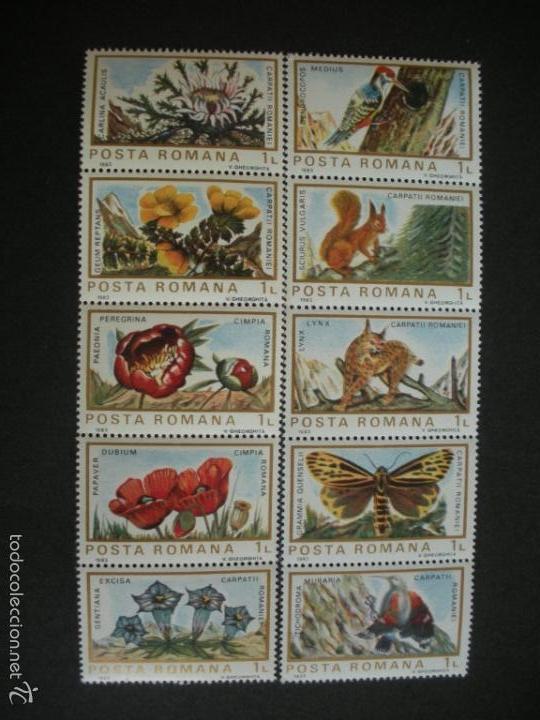 RUMANIA 1983 IVERT 3465/74 *** FAUNA Y FLORA EUROPEA (Sellos - Extranjero - Europa - Rumanía)