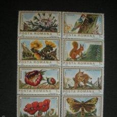 Sellos: RUMANIA 1983 IVERT 3465/74 *** FAUNA Y FLORA EUROPEA. Lote 56094283