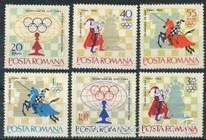 RUMANIA 1966 IVERT 2193/8 *** 17º TORNEO INTERNACIONAL DE AJEDREZ EN LA HABANA - DEPORTES (Sellos - Extranjero - Europa - Rumanía)