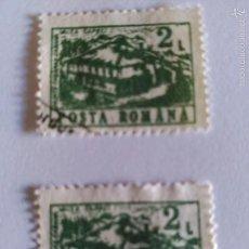 Sellos: 2 VALORES POSTA ROMANA, USADOS.. Lote 57653162
