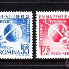 Sellos: RUMANIA 1963 AEREO IVERT 175/6 *** 2º VUELO ESPACIAL TRIPULADO - CONQUISTA DEL ESPACIO. Lote 57874441