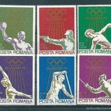 Sellos: RUMANIA Nº 2698/703 (YVERT). AÑO 1972.. Lote 58229232