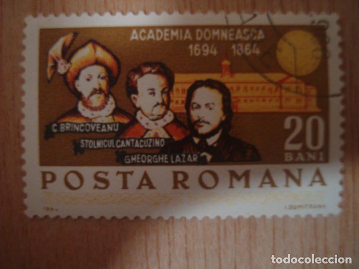 SELLO RUMANIA POSTA ROMANA 20 BANI ACADEMIA DOMNEASCA 1694 -1894 SELLOS EUROPA (Sellos - Extranjero - Europa - Rumanía)