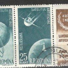 Stamps - Rumania. 1957. Serie Satélites artificiales. Usados - 70161838